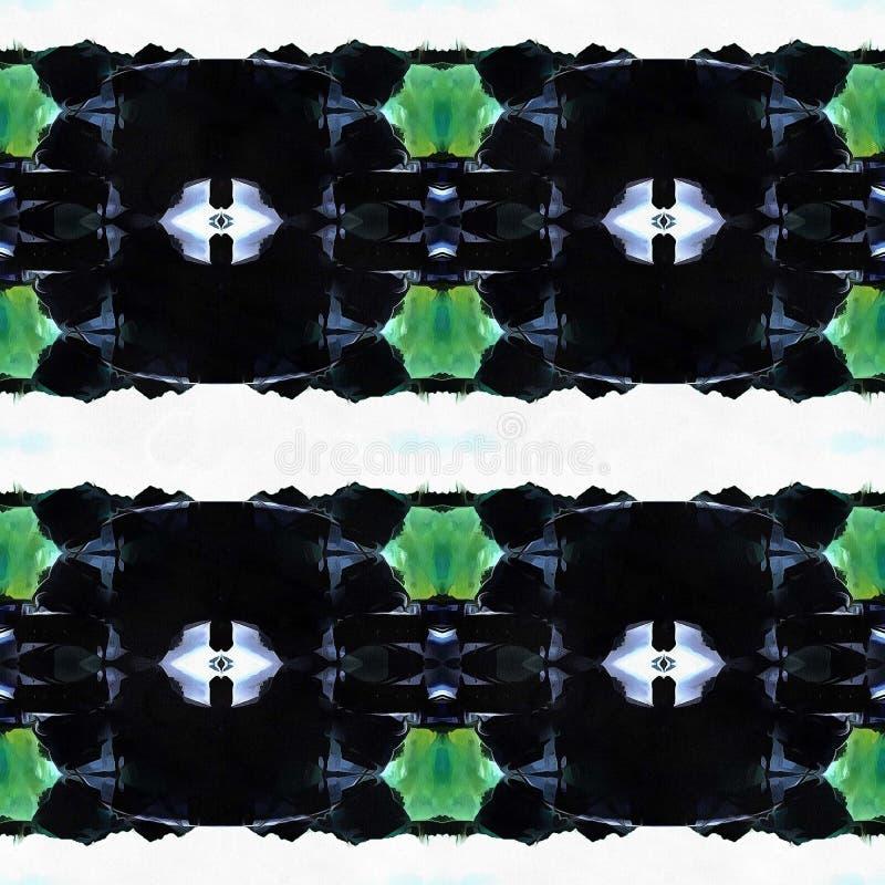 Web senza cuciture tribale moderno blu del modello di Ikat fotografie stock libere da diritti