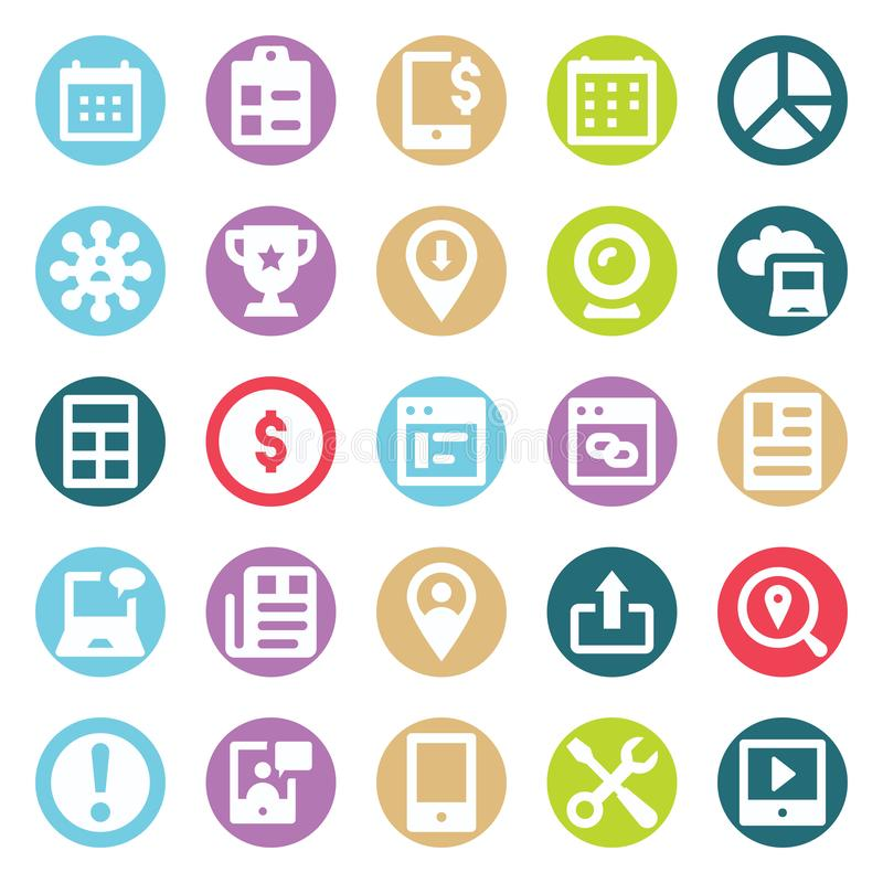 Web, SEO, Tools and Digital Marketing Two Color Glyph Vectors Isolated editable Icons Pack vector illustration