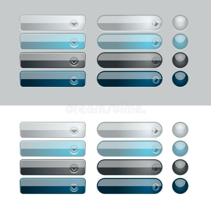 Web Shiny Button Set royalty free illustration