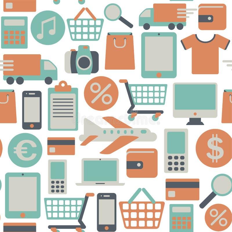 Download Web shopping pattern stock vector. Image of basket, pattern - 31520880