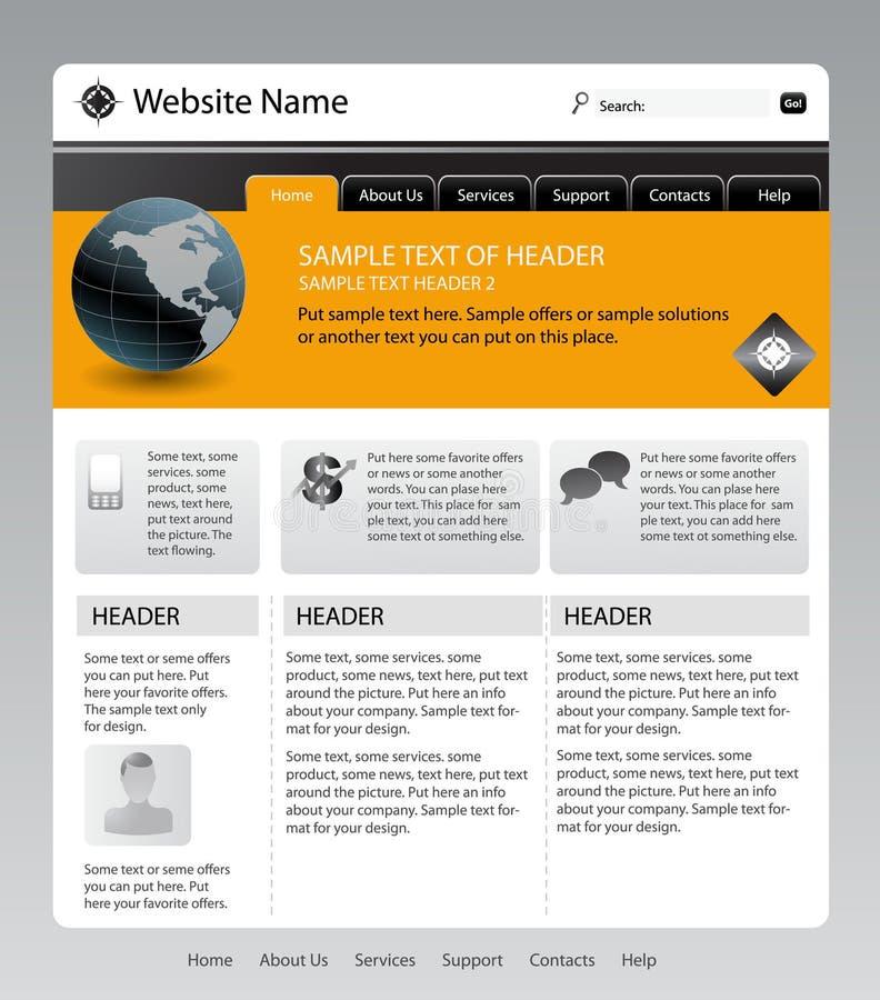 Web site ilustración del vector