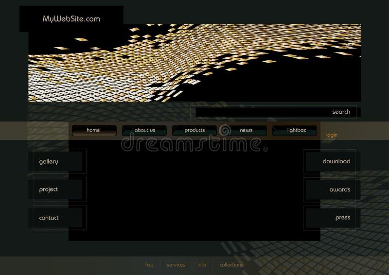 Web site. Home page design template, illustration stock illustration