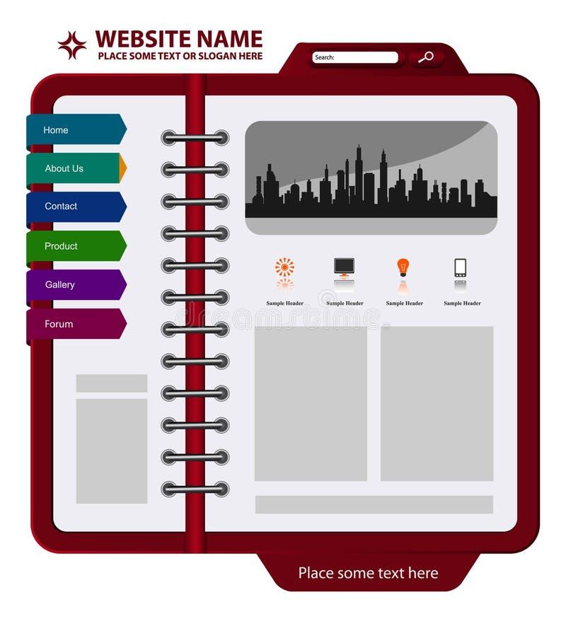 Web site ilustração royalty free