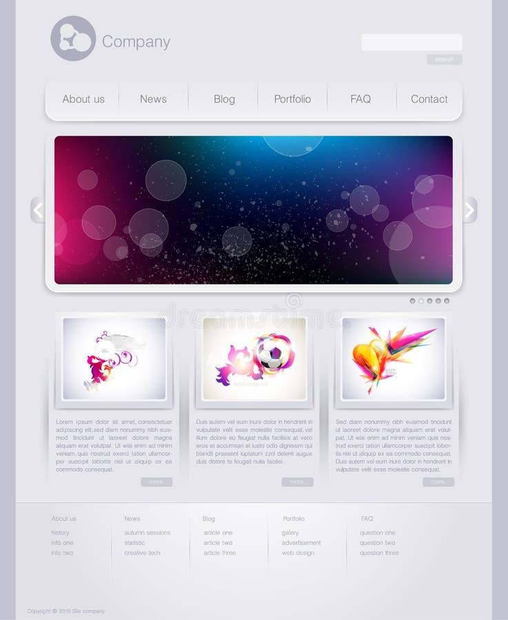 Web site. Modern web site design template royalty free illustration