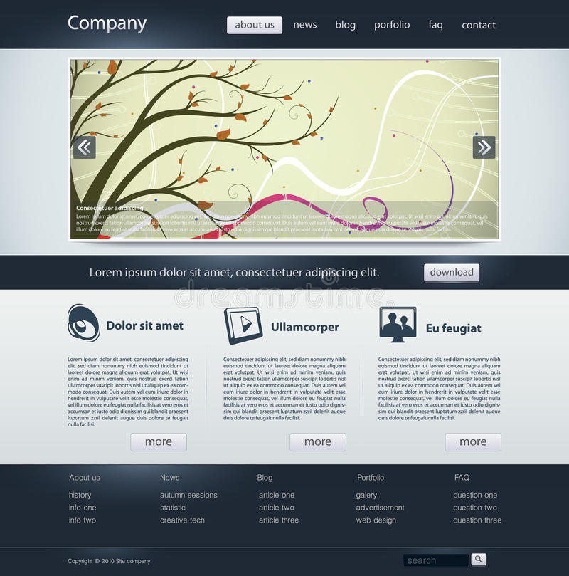 Web site. Business design template vector illustration
