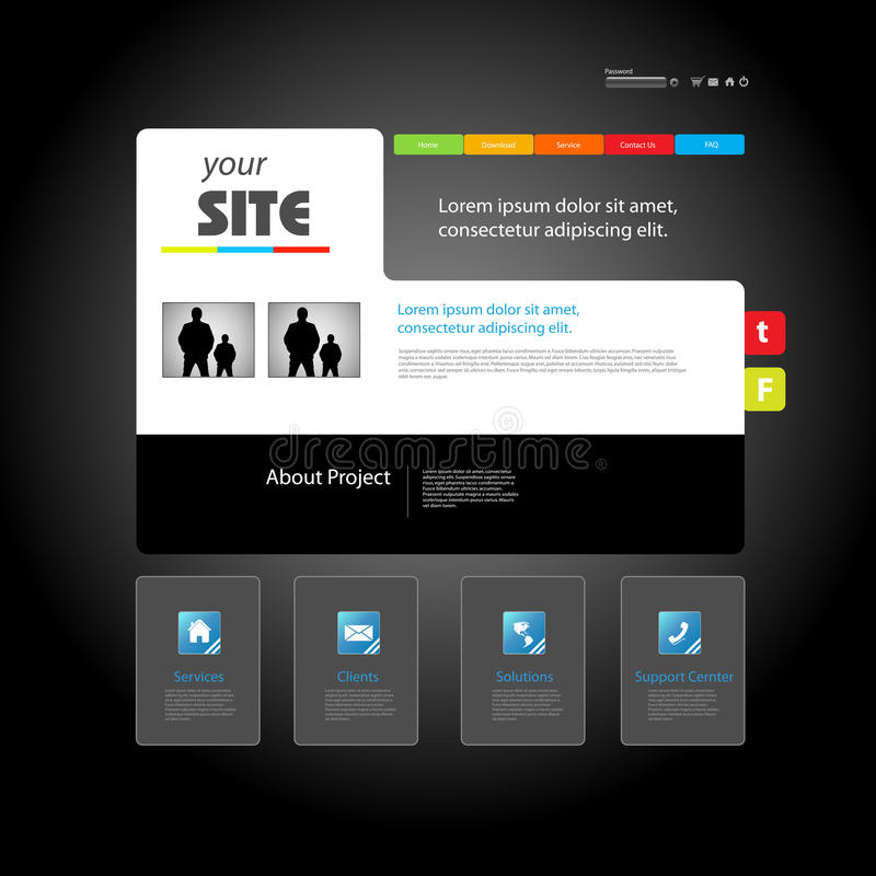 Web site. Art design template stock illustration
