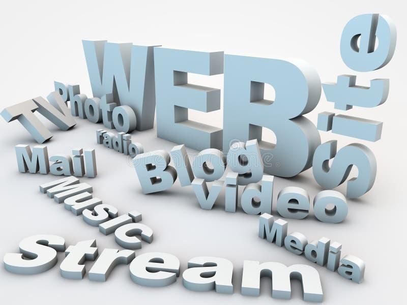 Web Site. Relevant words over white floor vector illustration
