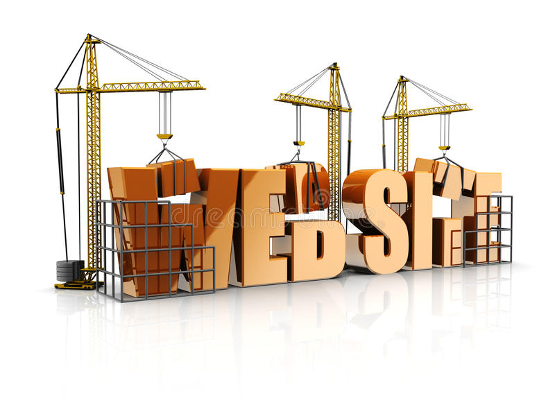 Download Web site stock illustration. Image of constructing, business - 26040689