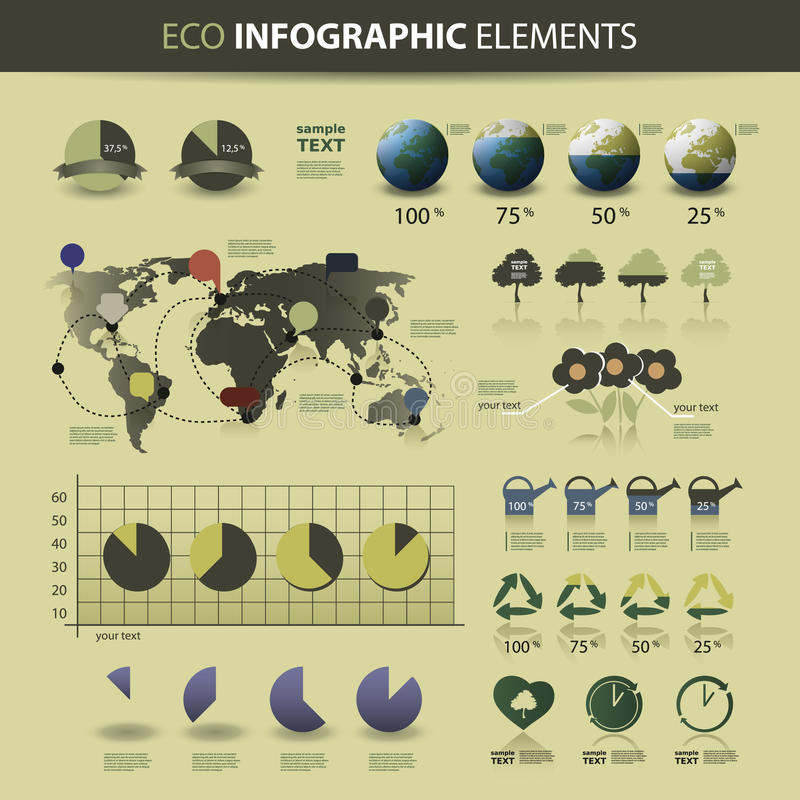 Web site & elementi infographic di disegno illustrazione vettoriale