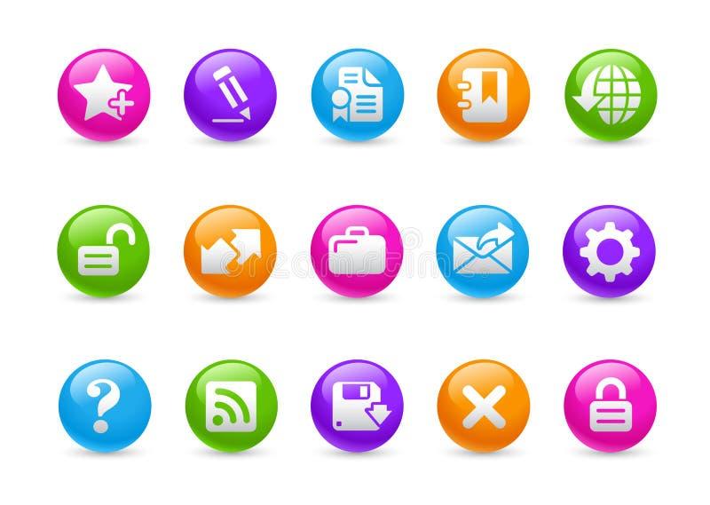 Web site & Internet mais a série do arco-íris de // ilustração royalty free