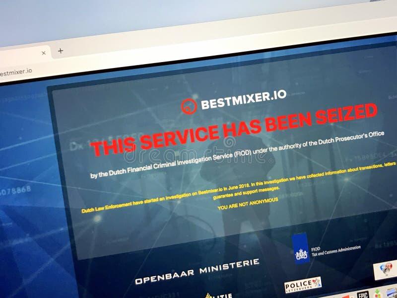 Web site apreendido do bestmixer Oi foto de stock