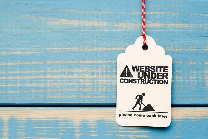 Web site bajo construcción imágenes de archivo libres de regalías