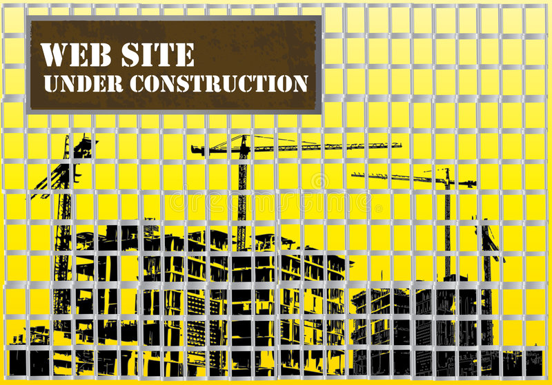 Web site bajo construcción libre illustration