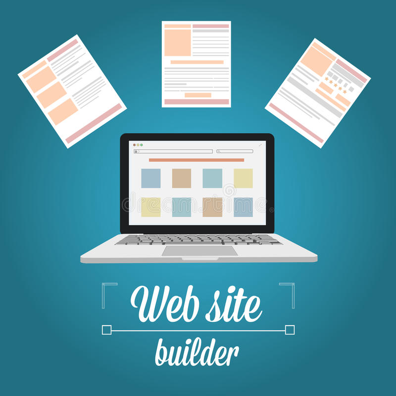 Web site builder, template prototyping stock photography