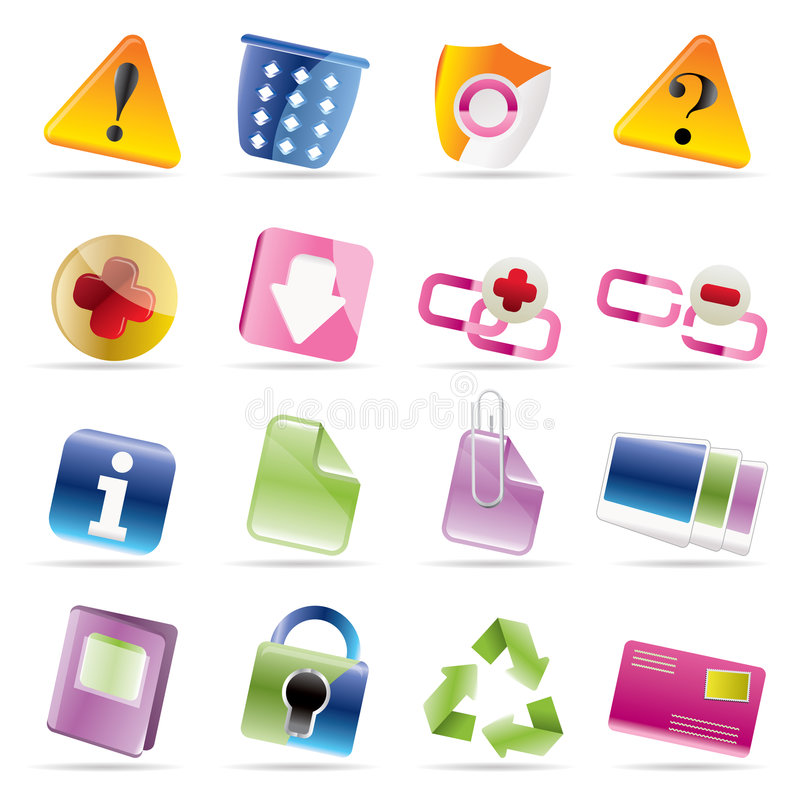 Download Web Site And Computer Icons Stock Vector - Illustration: 8815430
