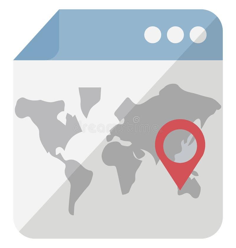 Web site concedido ícone isolado isométrico do vetor que pode facilmente ser alterado ou edita o Web site concedido ico isolado i ilustração do vetor