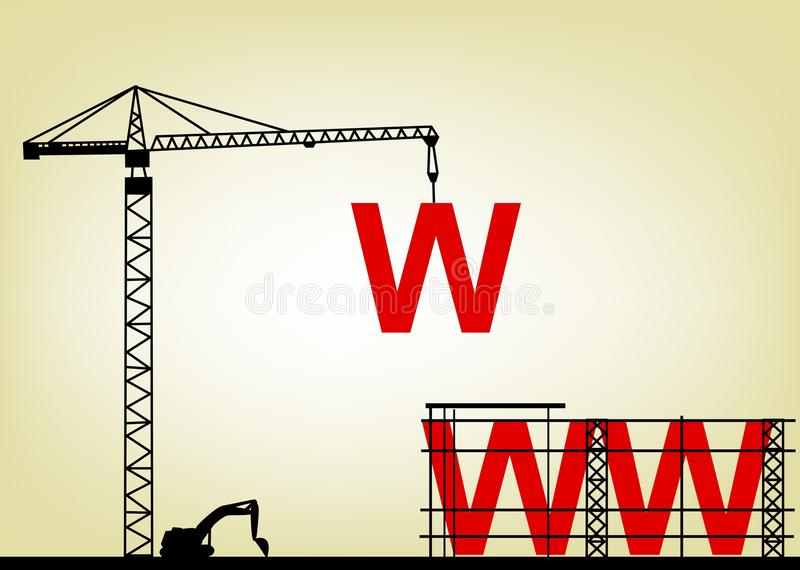 Download Web site construction stock vector. Image of infrastructure - 25129855