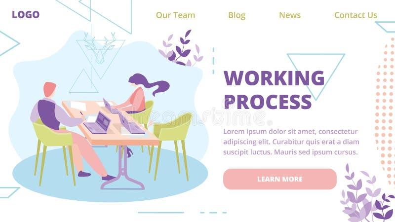 Web site de Team Work Process Online Service do negócio ilustração do vetor