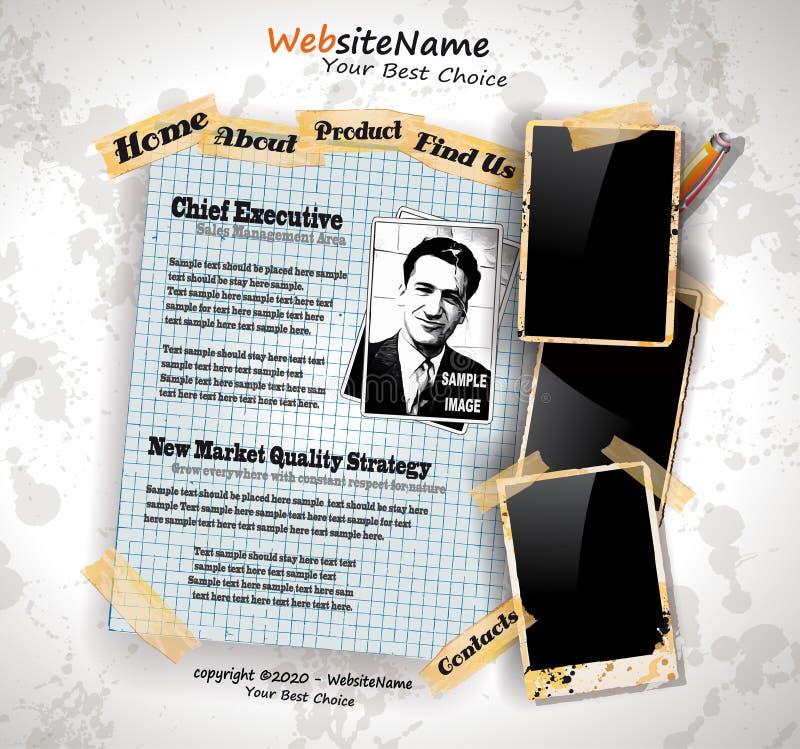 Web site del estilo de la vendimia del libro de la foto libre illustration