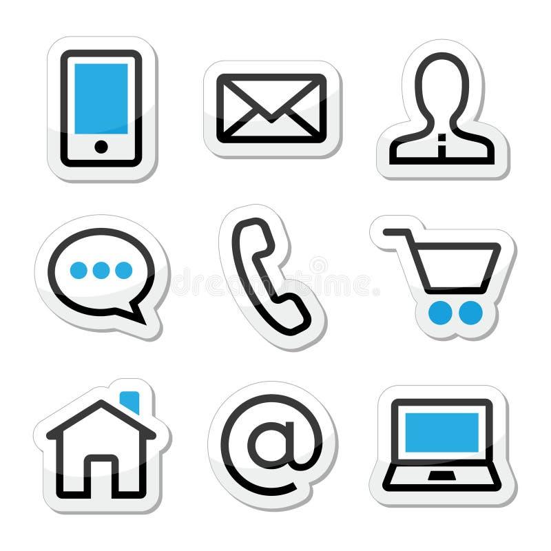 Icone del colpo di Web page del contatto messe royalty illustrazione gratis