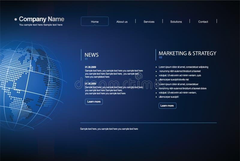 Web site del modelo del asunto. ilustración del vector