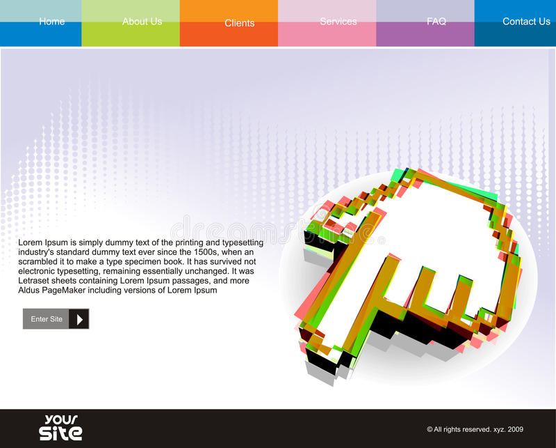 Web site design. Business web site design template, vector illustration stock illustration