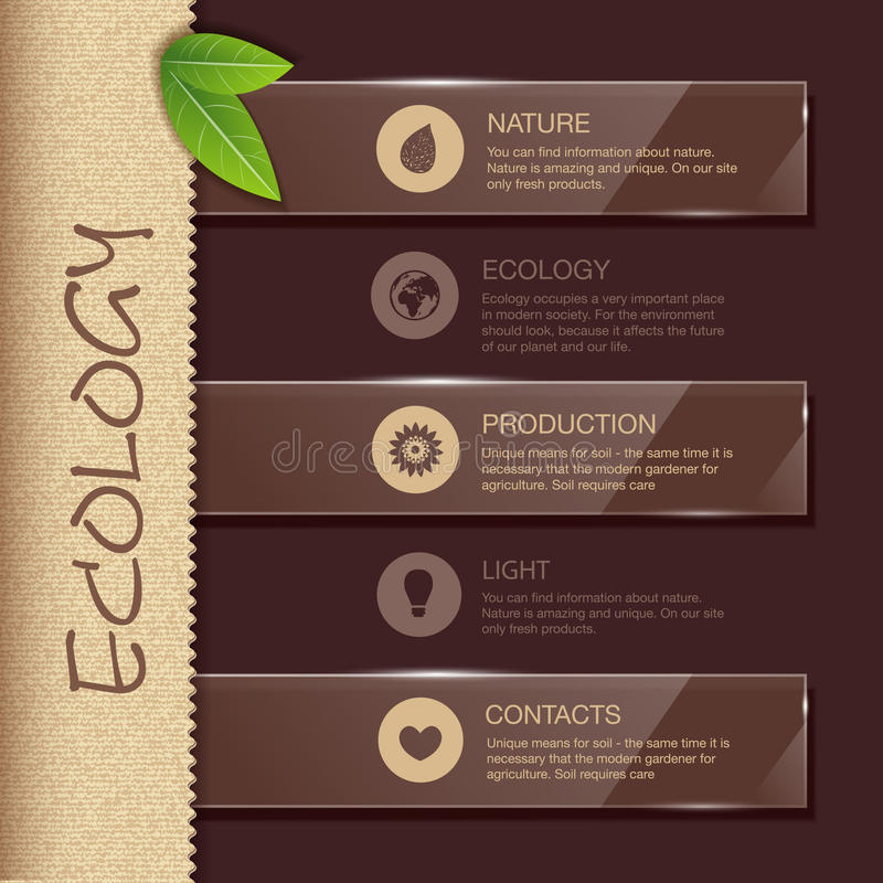 Web site design. Ecology background stock illustration