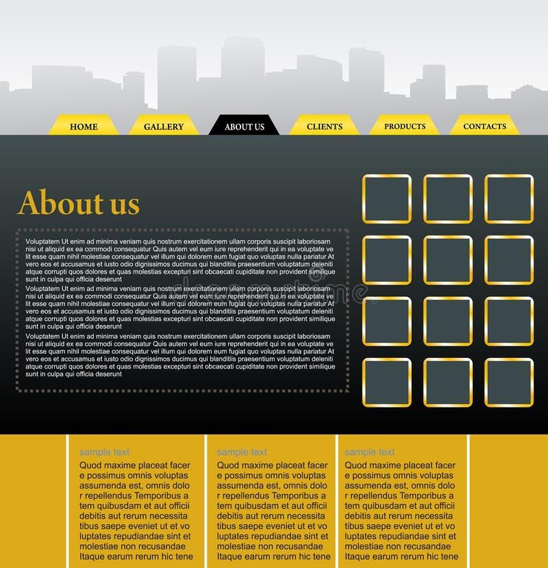 Download Web site design template stock vector. Illustration of sidebar - 10979875