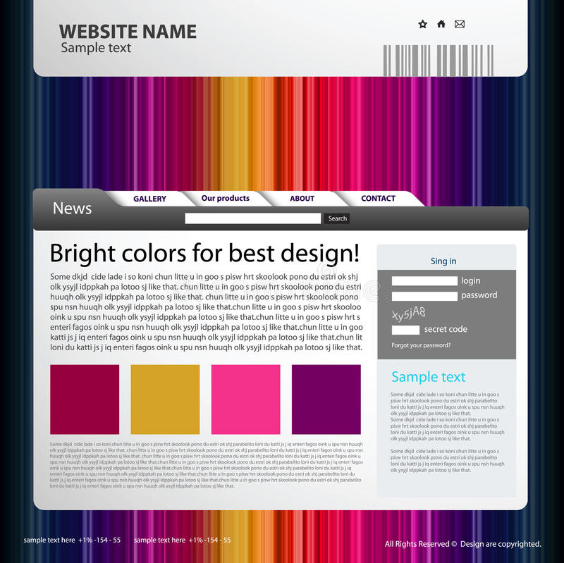 Web site design template. Web site template idea for your design royalty free illustration