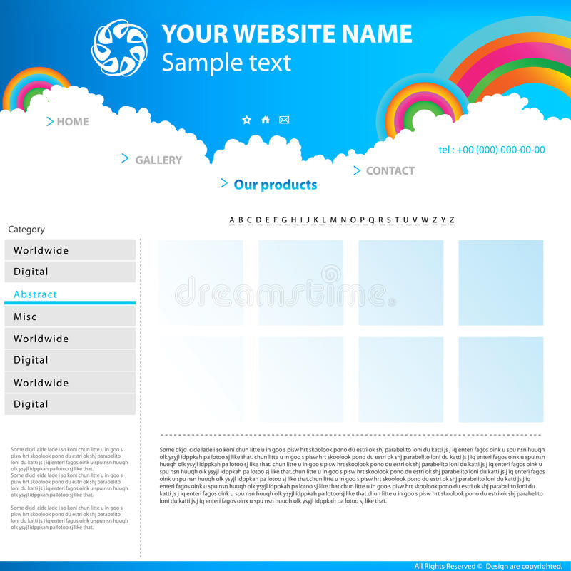 Web site design template. royalty free illustration