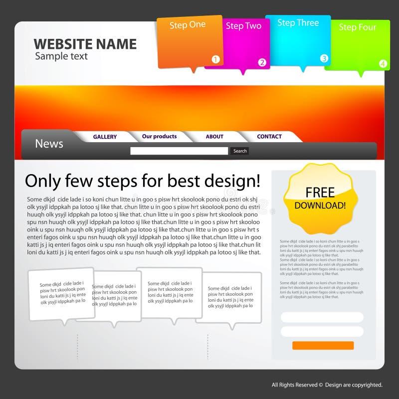 Web site design template. Web site template idea for your design vector illustration