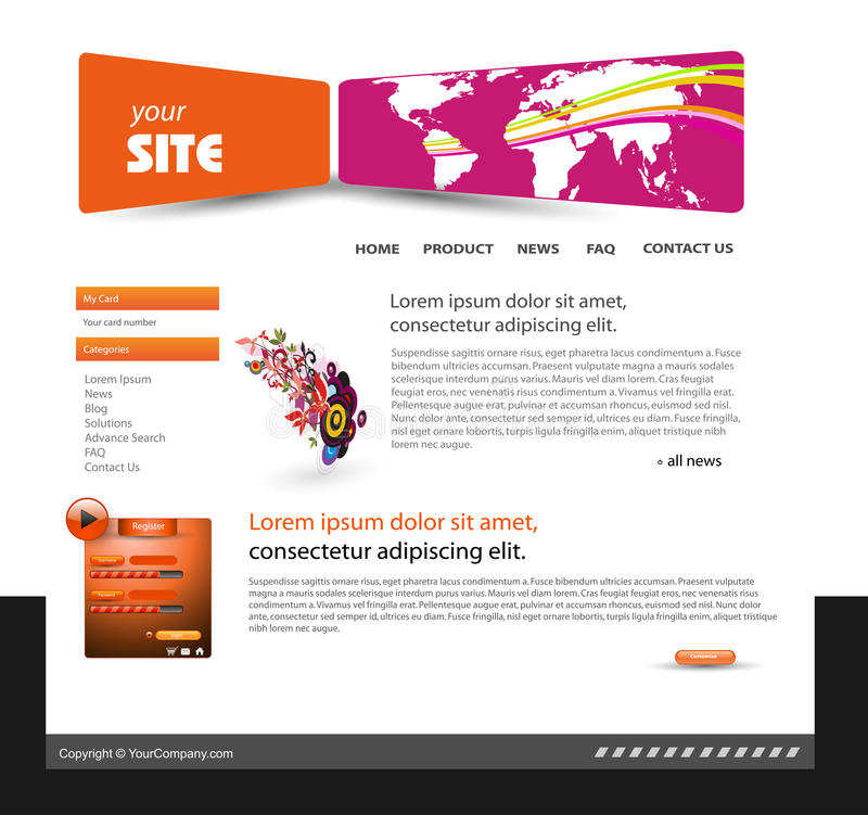 Web Site Design Template Royalty Free Stock Image