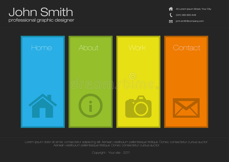 Web site design template stock illustration