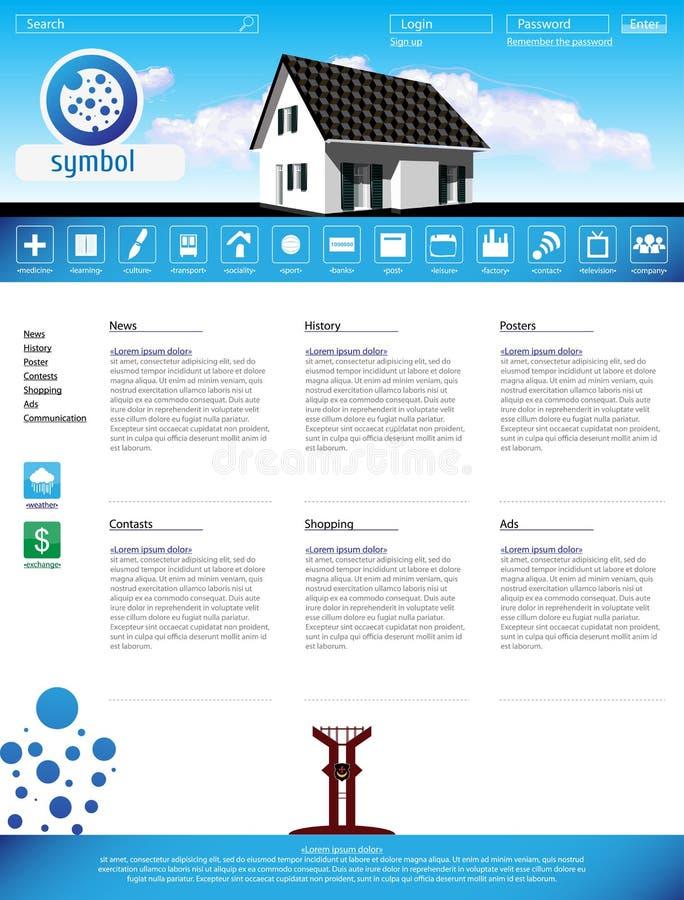 Web site design template, vector. Background vector illustration