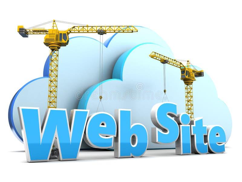 Web site development. 3d illustration of web site development over white background vector illustration