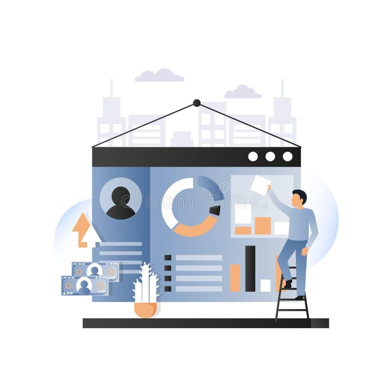 Web site development services concept vector illustration royalty free illustration
