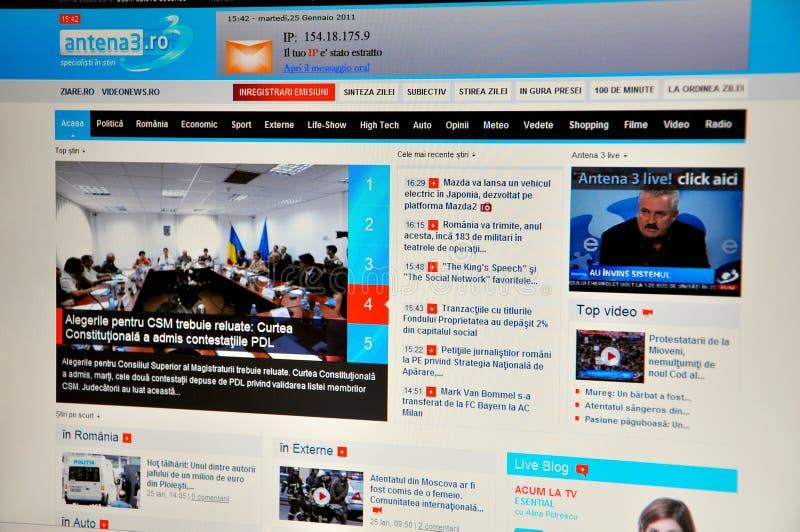 Web site di Antena 3 fotografie stock