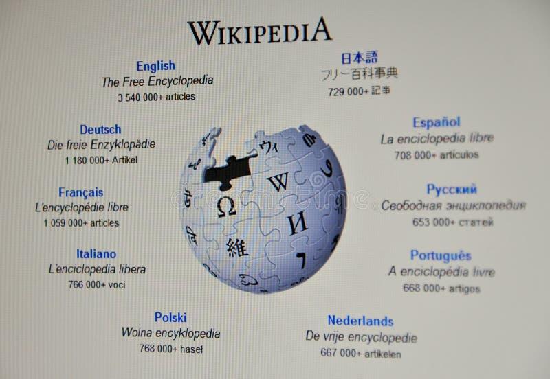 Web site di Wikipedia fotografie stock