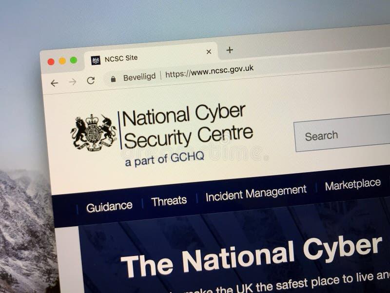 Web site do centro nacional da segurança do Cyber de Reino Unido fotografia de stock