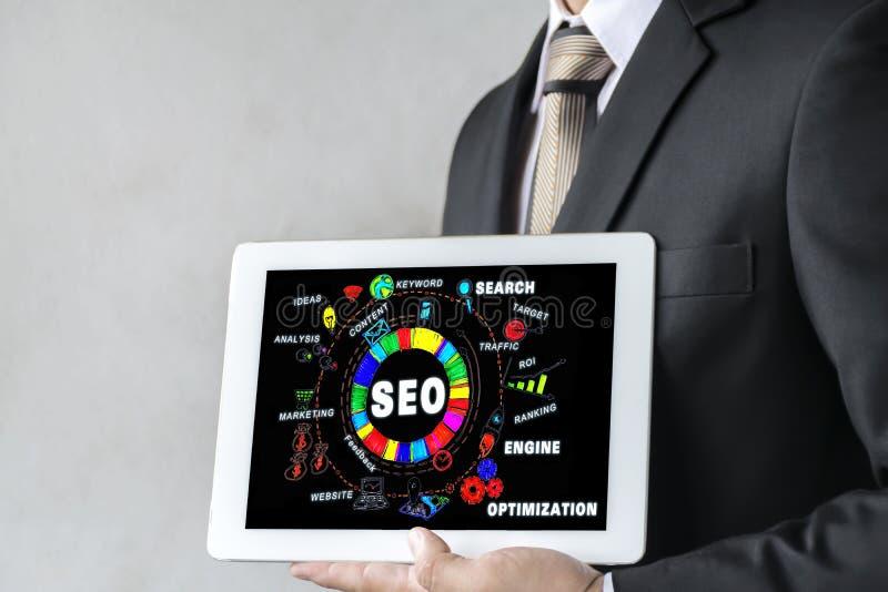Web site do tráfego da classificação de SEO Search Engine Optimization Marketing imagens de stock royalty free