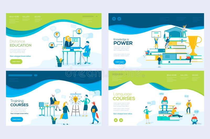 Web site e conceitos móveis da ilustração do desenvolvimento do Web site Ajuste dos moldes do projeto do página da web para consu ilustração royalty free