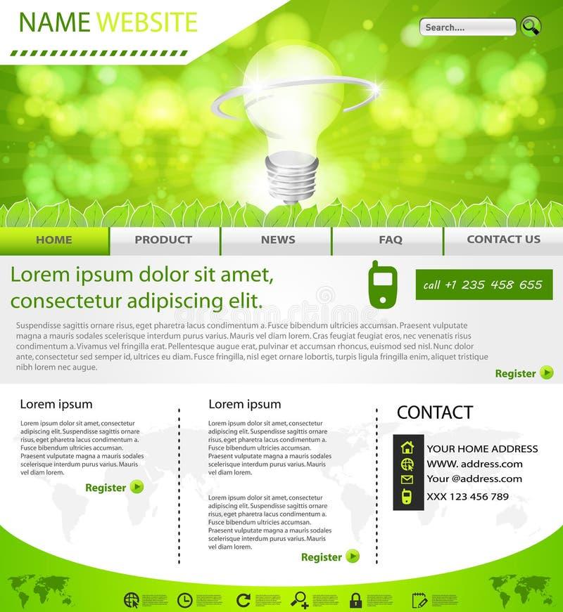 Web site eco Planschablone lizenzfreie abbildung