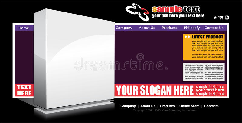 Download Web Site Elegant Template stock vector. Image of business - 10369693