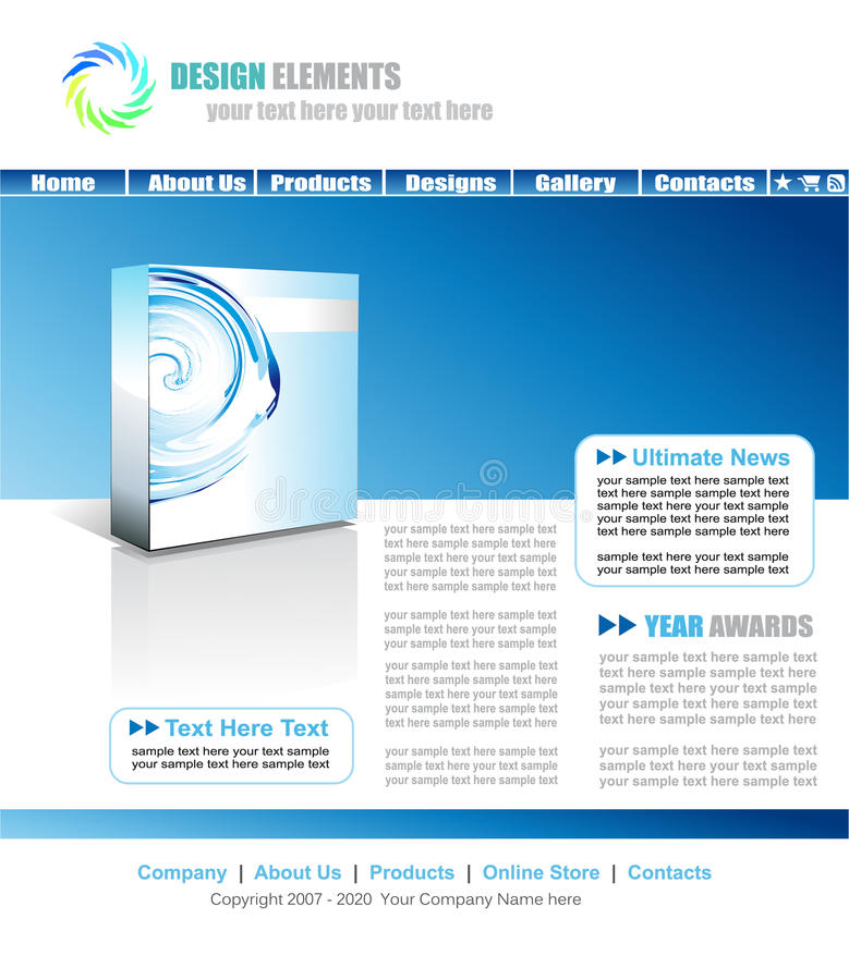 Download Web Site Elegant Template Royalty Free Stock Image - Image: 10369906