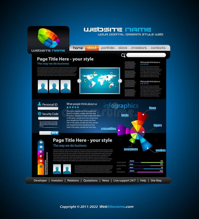 Web site - elegante Auslegung für Geschäft lizenzfreie abbildung