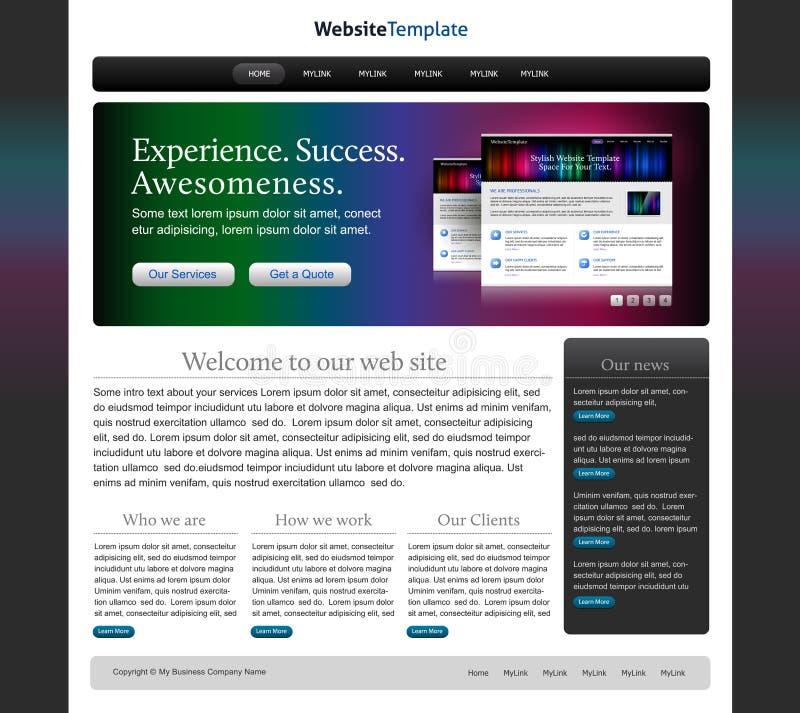 Web site elegante do negócio ilustração do vetor