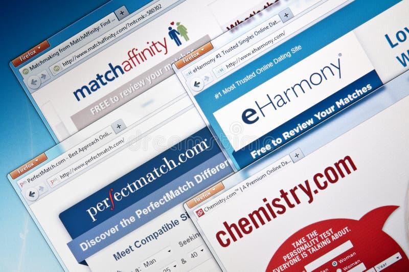 Web site en línea de la datación foto de archivo libre de regalías