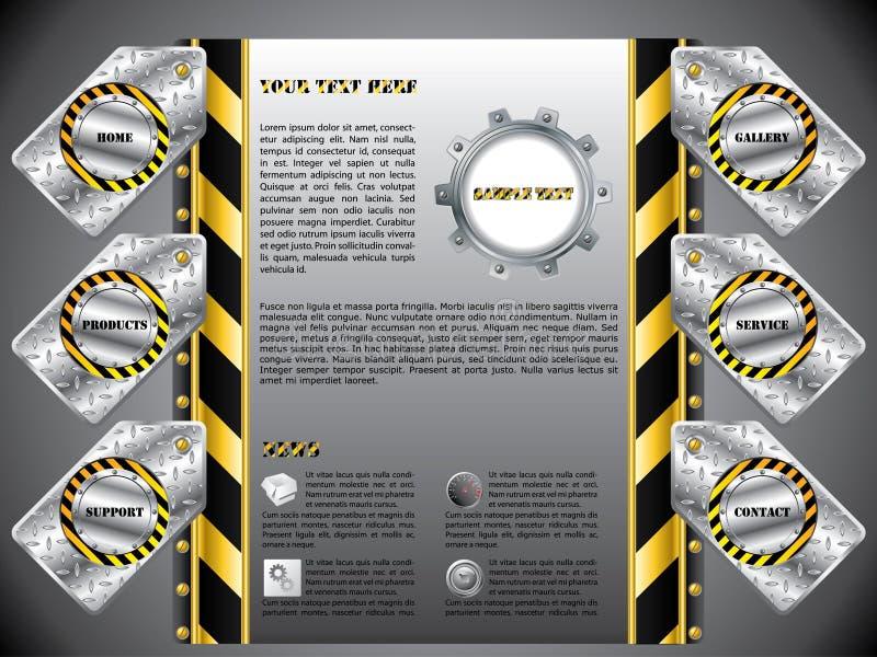 Web site etiquetado construção ilustração stock