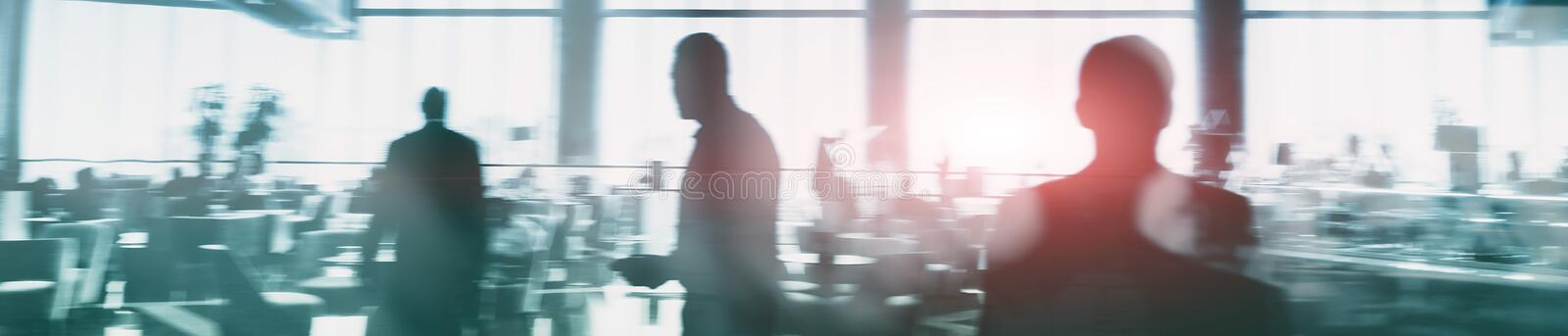 Web site header. Double exposure business people. stock photos