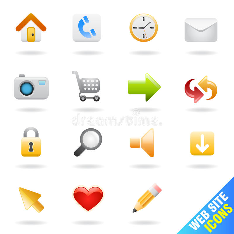 Download Web site icon set stock vector. Image of magnify, colorful - 19328021